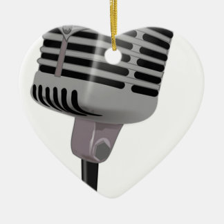 Radio Microphone Ceramic Ornament