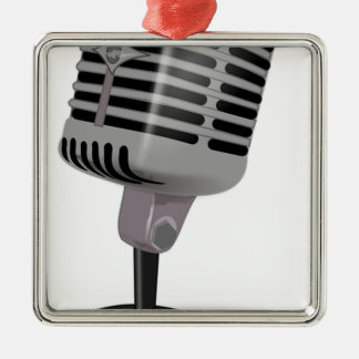 Radio Microphone Metal Ornament