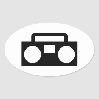 Radio Music Oval Sticker