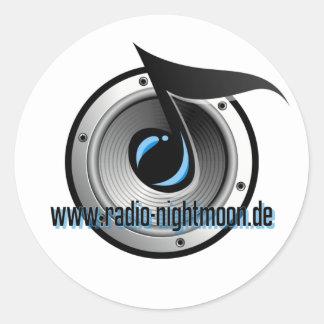 Radio Nightmoon Classic Round Sticker