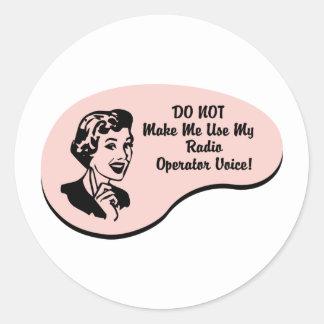 Radio Operator Voice Classic Round Sticker