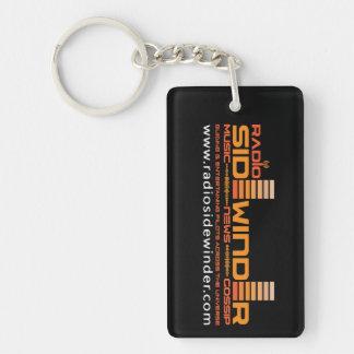 Radio Sidewinder Keyring Double-Sided Rectangular Acrylic Keychain