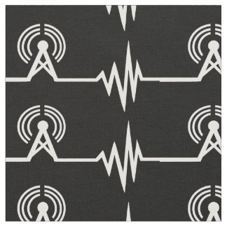 Radio Transmitter Frequency Wave Lines Fabric