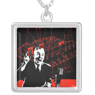 Radio Wave Maniac Silver Plated Necklace