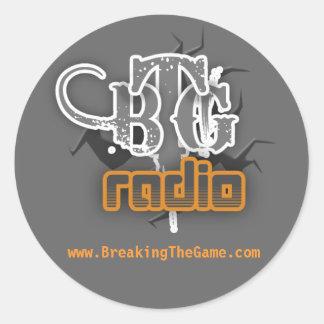 radio, www.BreakingTheGame.com Classic Round Sticker