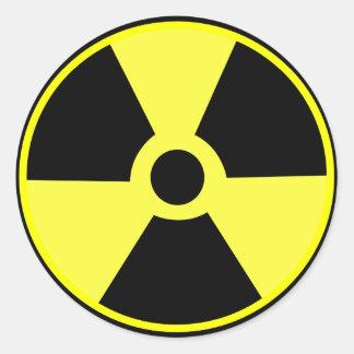Radioactif Adhésifs Ronds