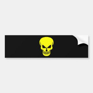 radioactive-154326 SKULL YELLOW BLACK DANGEROUS DA Bumper Sticker