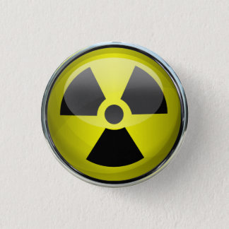 Radioactive 1 Inch Round Button