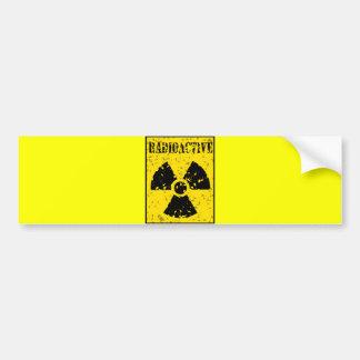 radioactive-4 RADIOACTIVE WARNING SYMBOL SIGN GRAP Bumper Sticker