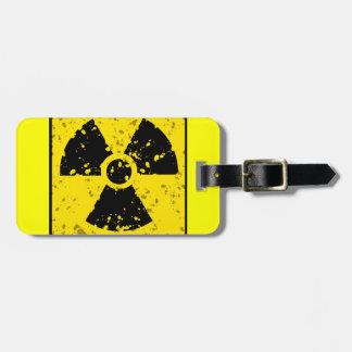 radioactive-4 RADIOACTIVE WARNING SYMBOL SIGN GRAP Luggage Tag