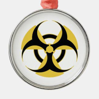 Radioactive Biohazard Metal Ornament