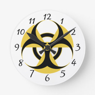 Radioactive Biohazard Round Clock