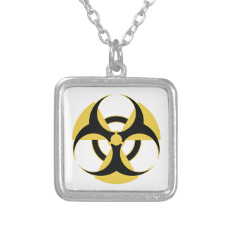 Radioactive Biohazard Silver Plated Necklace