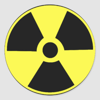 Radioactive Black and yellow Stickers