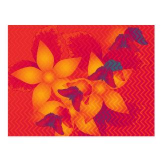 Radioactive butterflies horizontal postcard