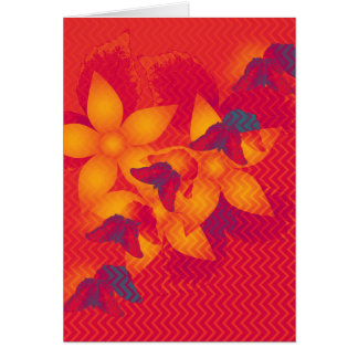 Radioactive butterflies vertical card