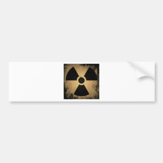 Radioactive danger bumper sticker