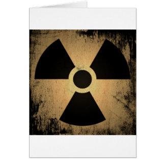 Radioactive danger card