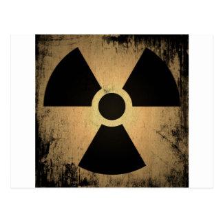 Radioactive danger postcard