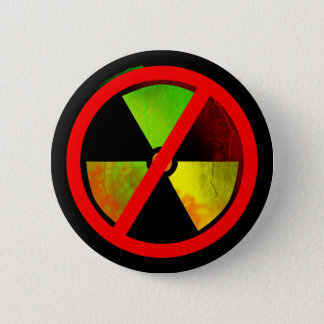Radioactive Grunge No-Nukes Symbol 2 Inch Round Button