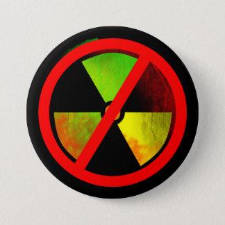 Radioactive Grunge No-Nukes Symbol 3 Inch Round Button