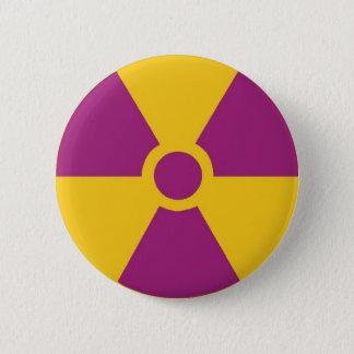 Radioactive Hazard 2 Inch Round Button