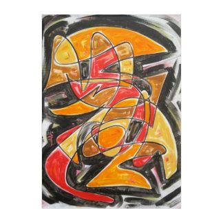 Radioactive Love-Abstract Art Hand Painted