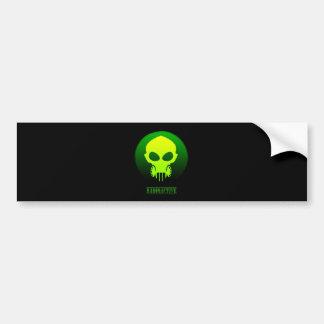 Radioactive Mask Bumper Sticker