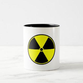Radioactive material symbol Two-Tone coffee mug