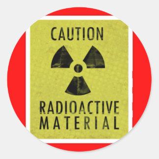 'radioactive materials' classic round sticker