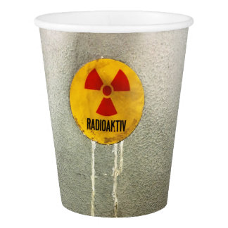 radioactive paper cup