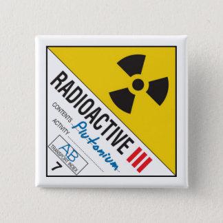 Radioactive - Plutonium 2 Inch Square Button