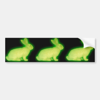 radioactive rabbit bumper sticker