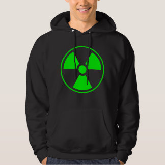 Radioactive Radiation Symbol green and black Hoodie