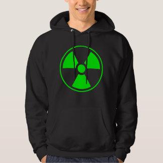 Radioactive Radiation Symbol green and black Hoodie