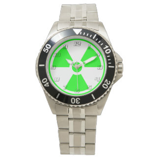 Radioactive Radiation Symbol green and black Watch