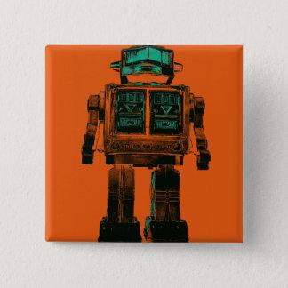 Radioactive Robot Rebellion 2 Inch Square Button