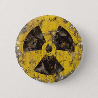 Radioactive Rusted 2 Inch Round Button