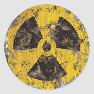 Radioactive Rusted Round Sticker