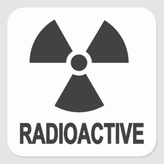 Radioactive Square Sticker