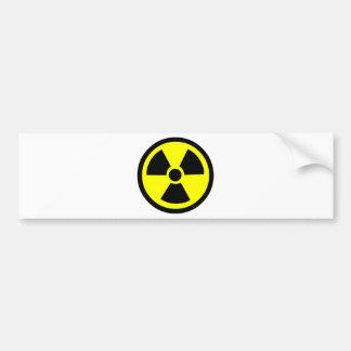 Radioactive Symbol Bumper Sticker