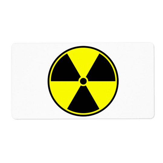 Radioactive Symbol Shipping Label