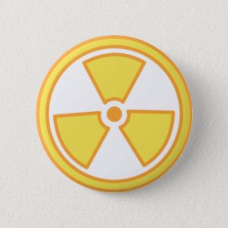Radioactive Warning 2 Inch Round Button