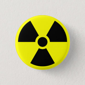 Radioactive warning button