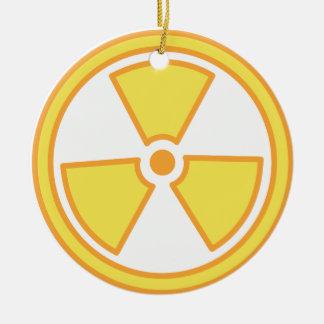 Radioactive Warning Ceramic Ornament