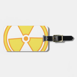 Radioactive Warning Luggage Tag