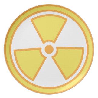 Radioactive Warning Plate