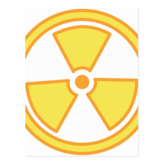 Radioactive Warning Postcard