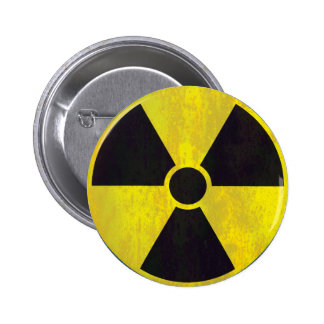 Radioactive Warning Sign 2 Inch Round Button