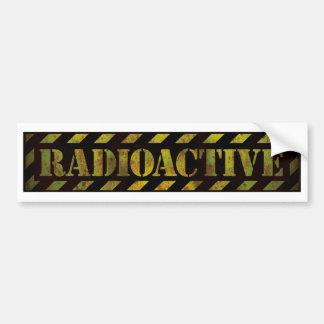Radioactive Warning Sign Bumper Sticker